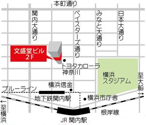 馬車道の地図